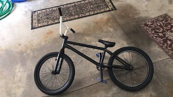 Black BMX bicycle