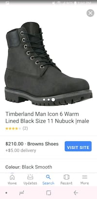 Black size 8 brand new timberlands  St. Catharines, L2S 4B8