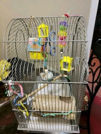 Grey bird cage with accessories  Falls Church, 22041