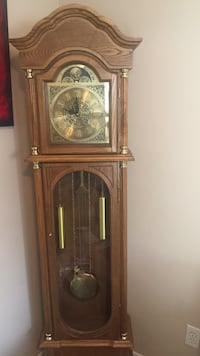 Brown wooden framed grandfather clock Port Coquitlam, V3B 1H6