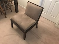 2 olive green upholstery chairs with dark wood. Great condition barely used. They were part of a seating area by the front door and never used. They were $350 each ($700 total). Asking $150 each ($300 total). Breinigsville, 18031