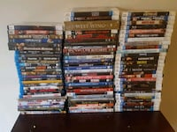 assorted blue ray movies  and regular dvds 508 km