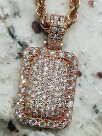 14k Rose Gold VS Diamond Pendant 2.15ct