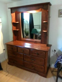 brown wooden dresser with mirror. Listed on Letgo+ Edmonton, T5R 4E7