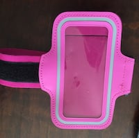 pink and white leather armband for IPhone Laurel, 20708