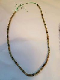 Peridot facet strand or necklace