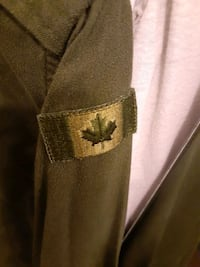 Green Canadian Army Button Down!!!