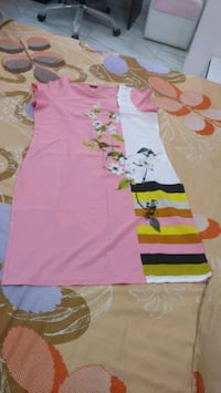 Pink color floral design kurti, new only, size L Ahmedabad, 380007