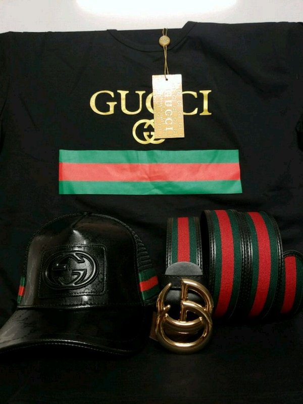 7244d349c4c896 Used GUCCI GANG TEE HAT BELT COMBO for sale in Orlando - letgo