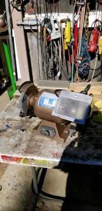 Cool Allied 8 In Bench Grinder 3 4 Hp Like New Ibusinesslaw Wood Chair Design Ideas Ibusinesslaworg
