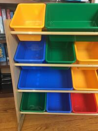 Assorted-color plastic toy organizer 41 km