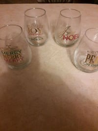 Stemless Holiday wine glasses Waldorf, 20603