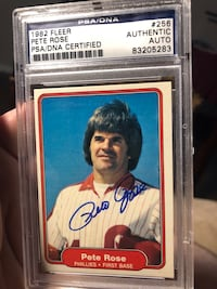 Pete Rose Autograph PSA/DNA Certified Authentic Edmonton, T5P 2B1