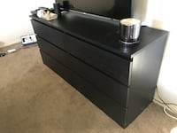 Black wooden 3-drawer dresser Los Angeles, 90036