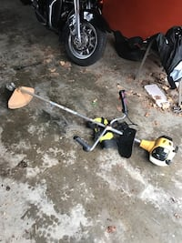 Yellow and white string trimmer 38 km
