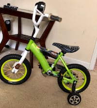 toddler's green and black bicycle with training wheels Spartanburg, 29301