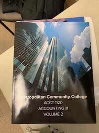 ACCT 1120 Accounting III Volume 2 Omaha, 68130