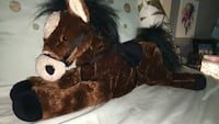 Brown and white horse plush toy Billings, 59101