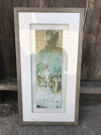 Perfect Condition - beautiful art work. We changed our decor so it no longer fits in.