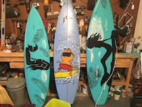 three blue and green surfboards Chesapeake, 23323