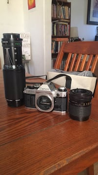 Canon AE-1 with Osawa 35-70mm lens and Canon 100-30mm Lens