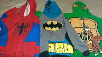 Super heroes Jackets size M kids $10 for all