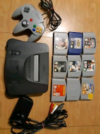 N64 Charcoal system and 9 games Brantford, N3S 7R4
