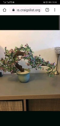 Artificial jade flower