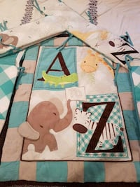 A to Z baby crib set also has mobile & bed skirt  Prince George, V2M 7E3