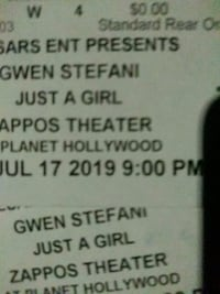 Gwen Stefani at Planet Hollywood 7/17 wed. 9pm  Las Vegas, 89101