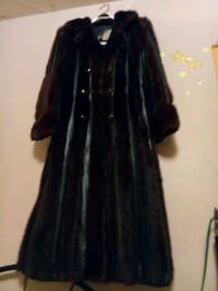 Woman's full length red fox fur jacket