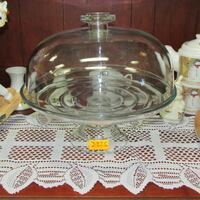Glass Pedestal Cake Stand with Dome Cover Heavy  Mississauga