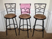 Set of 3 Bar Stools Springfield