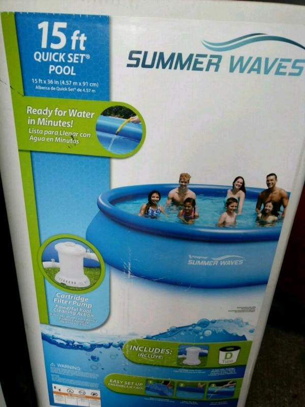 Used Summer Waves Above Ground Pool Box For Sale In Freeport Letgo