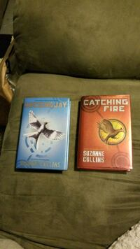 books. mocking Jay & catching fire....
