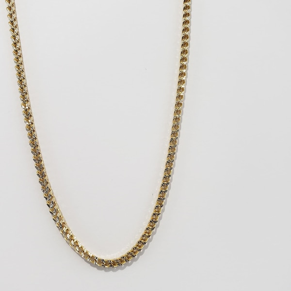 10k Yellow Gold Two-Toned Franco Chain 9