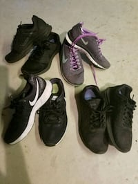 4 pairs of Woman's Nike shoes 8 1/2 135 mi