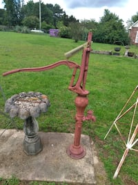 Yard art large old fashioned water pump