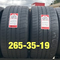 2 used tires 265/35/19 Michelin