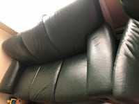 Green leather living room set Somerville, 02143