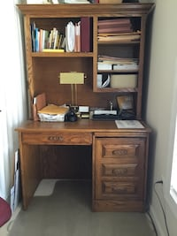 Desk with hutch - solid oak