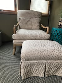 Oversized side chair and ottoman, great condition