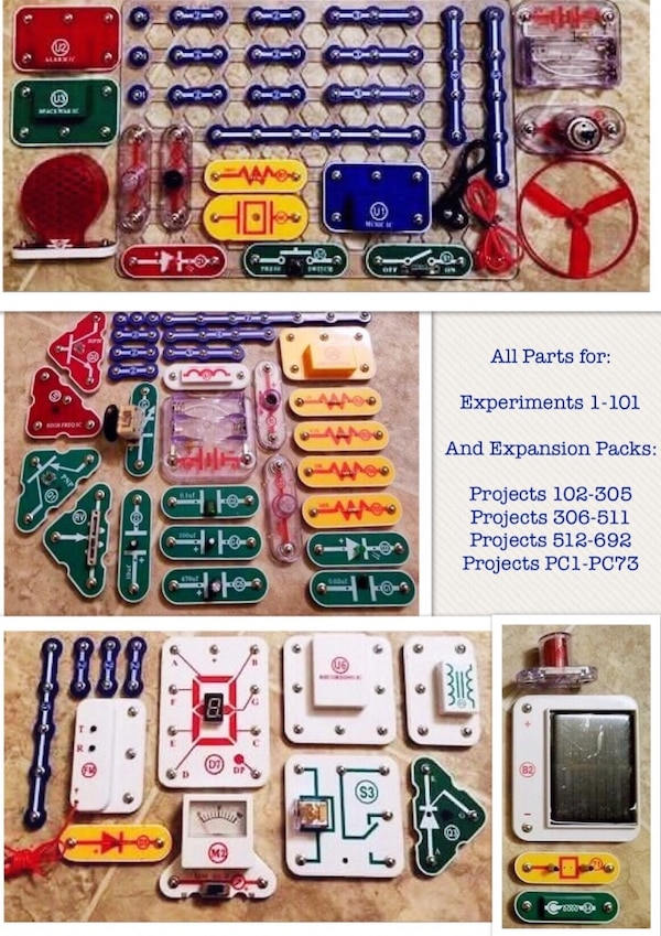 Used Like New But Missing Box Elenco Electronic Snap Circuits