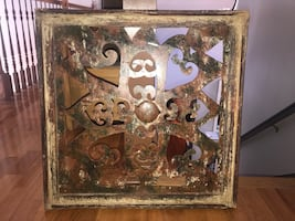 Unique rustic artwork!! Rustic metal and wood wall artwork.