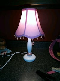 Pink pull string lamp. Quakertown, 18951