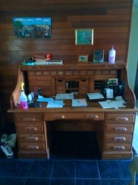 brown wooden roll-top desk Tampa, 33616