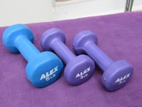 3 Dumbbells - Two 3lb, One 5lb Burlington