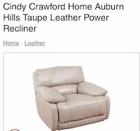 Cindy Crawford Power Leather Recliner ... retails for $695.  Savannah