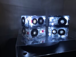 Two Cassette tape lights