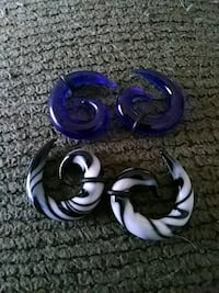 Glass spirals body jewelery 975 mi